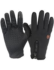 Skysper Gants de Cyclisme Ski Moto Randonnée Anti-vent chaud en Automne/Hiver pour Ecran Tactile de Tablettes et Smartphones