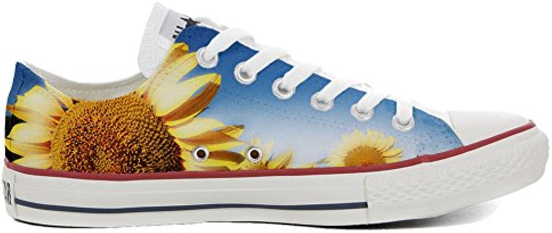 Converse All Star personalisierte Schuhe (Handwerk Produkt) Slim Sonnenblume