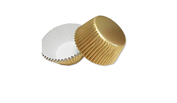 Foglio Casi di Carta Foderato in Lamina PME BC833 Oro a Pois Cupcake Pk//30