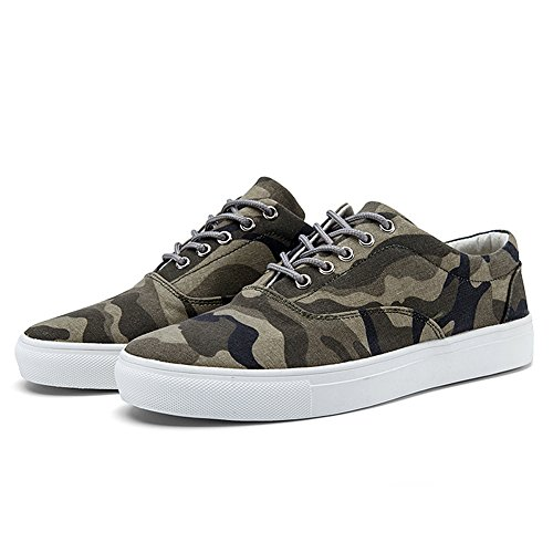 JEDVOO Sneakers Klassische Low Top Camouflage Unisex-Erwachsene Army Green