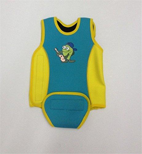 dessin animé anti-froid d'une seule pièce gilet de natation pour bébé