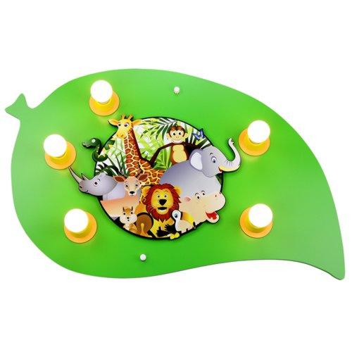 Elobra Deckenleuchte Blatt Dschungel, 5 flammig ELO-125861