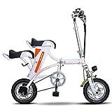 Tragbar Elektrofahrräder Zusammenklappbar,Quick-Fold, mit 30-50 Km Reichweite, 36V 250W elektrisches Fahrrad Geeignet für kurze Ausflüge, Schulen, Arbeitsweg und Vermeidung von Staus,White,30Km