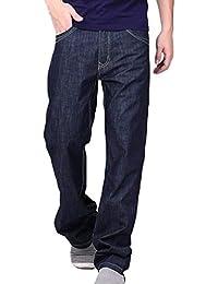 3e4795a5c1ec3 Laisla fashion Jeans Hommes T Long Jeans Droite Jeans Coupe Droite Ssige  Baggy Classique Pantalon Cowboy