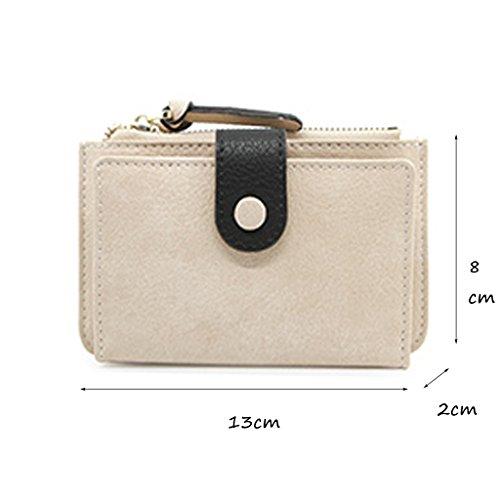 CLOTHES- Sacchetto di moneta della borsa della borsa della moneta del raccoglitore delle signore Versione coreana della personalità semplice bella Multifunzionale Sacchetto della carta del polso Sacch Beige