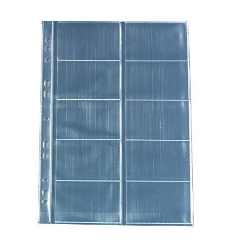 Herlitz 5894209 Visitenkartenhülle A4 mit 10 Fächern, glasklar, 10 Stück