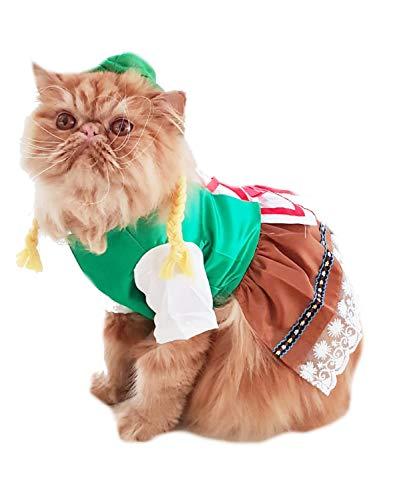Glamour Girlz super süße Hunde Katzen Verkleiden Halloween Lustiges Weibliches Dirndl Kostüm Oktoberfest Deutsche Lederhose Outfit