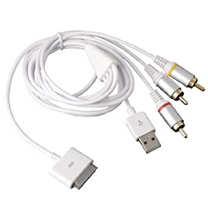 iphone av cable rca composite av tv cable usb for apple iphone 4 4s 3g 3gs 8847