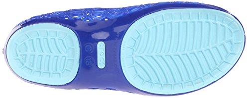 Crocs Isabella Jelly Flat (Kleinkind / kleines Kind) Cerulean Blue/Ice Blue