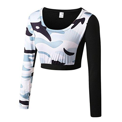 Zhuhaitf Profesional Long Sleeve Womens Fashion Camouflage Deportes Fitness Quick-dry Training Yoga Tight Tops Activewear