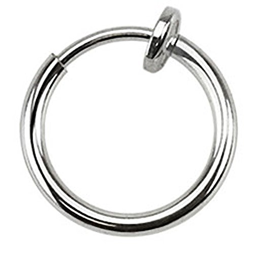 Autiga Nasenring Fake Nasenpiercing Septum Clicker Piercing Helix Titan plattiert Silber