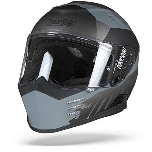 Simpson Casco Moto 2019 Venom Army Matt Nero-Grigio (M, Grigio)