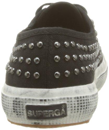 Superga, 2750-COTWDSTUDS WT, Scarpe basse, Donna 999 Black