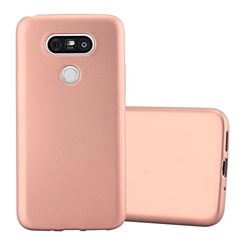 Preisvergleich Produktbild Cadorabo Hülle für LG G5 - Hülle in METALLIC Rose Gold - Handyhülle aus TPU Silikon im Matt Metallic Design - Silikonhülle Schutzhülle Ultra Slim Soft Back Cover Case Bumper