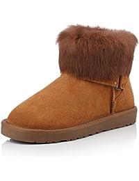 55edf93ae BYUYAN Las botas En otoño y en Invierno la Nieve Botas Botas Botas Hembra  Low-Low PU TPR