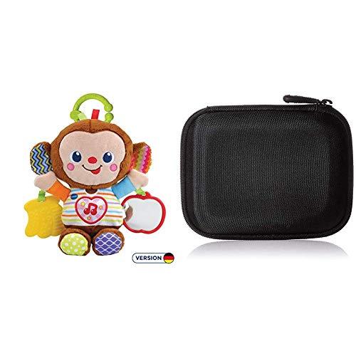 Vtech 80-513404 Babyäffchen Babyspielzeug, Mehrfarbig & AmazonBasics Festplattentasche, schwarz