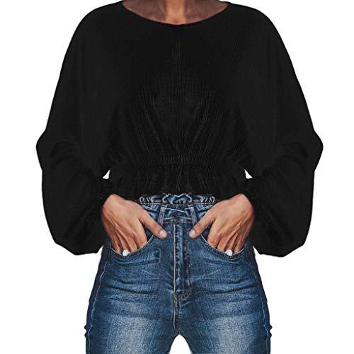 Beladla donna camicetta blusa elegante camicia manica lunga top a manica lunga con scollo rotondo a forma di bustino da ragazza manica lunga maniche maglia camicie t shirt blouse tops