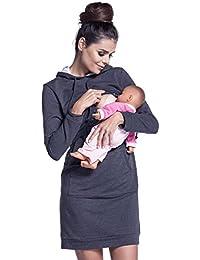 Zeta Ville - Premamá Vestido sudadera de lactancia efecto en capa - mujer - 208c
