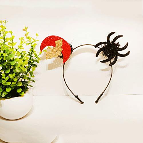 Halloween Stirnband Kürbis Spinne Ghost Hat Form Haarbänder Bling Leichte Kopfbedeckung für Urlaub Kostüm Party Devil Zubehör Liefert Erwachsene - Kopf Auf Einem Tisch Kostüm