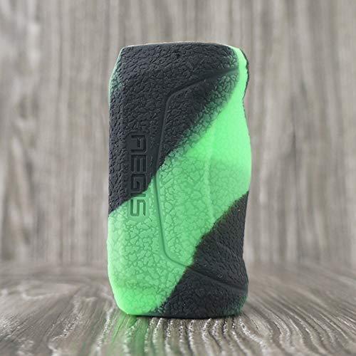 Skin Kit-grün (CEOKS für geekvape aegis Mini 80w kit Hülle, RutschfestSchützende Silikon-Hülle-Abdeckungs-Verpackungs-Haut für geekvape aegis Mini 80w Segeln Skin Ärmel Case Cover (Schwarz-Grün))