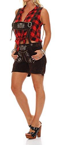 Gennadi Hoppe Damen Trachten Lederhose Oktoberfest Shorts (34, braun)