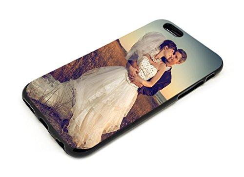 Premium Handyhülle für Apple iPhone-Serie selbst gestalten mit eigenem Foto und Text * Bild Cover Kappe Schutzhülle, Handymodell:Apple iPhone 7, Hülle:TPU-Silikon / Schwarz Matt (Kinder-foto-drucker)