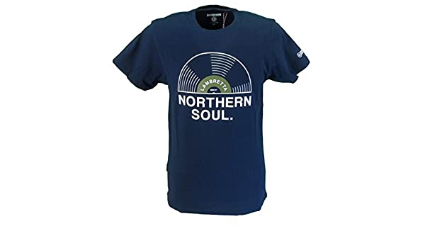 Lambretta Navy Large Print Northern Soul Scooter Retro T Shirt …