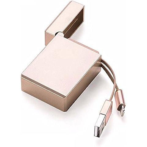 thanly portatile retrattile a forma di accendino Lightning USB di ricarica e sincronizzazione Cavo per iPhone 77s 66S Plus 55S 5C SE iPad mini, iPad Air, iPad 4, iPod Touch/Nano e tutti i dispositivi con connettore a 8pin