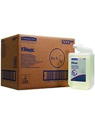 Kleenex 6333 Savon Liquide Usages Très Fréquents, 1000 Doses par Cartouche, Code 6333, 6 Cartouches de 1 L, Incolore (Pack de 6)