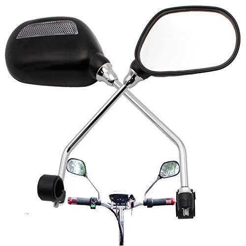 Forever Speed 2X Fahrrad Mobilität Spiegel Rückspiegel + Lenkspiegel Verstellbar 360°