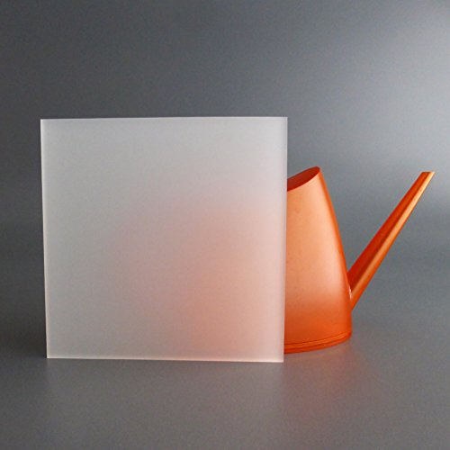 lobotec-acryl PLEXIGLAS Zuschnitt Acrylglas Zuschnitt 3-10mm weiß satiniert Snow (10mm, 500 x 1000 mm)