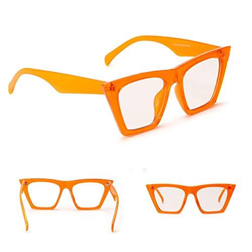 YLNJYJ Candy Farbe Quadrat Sonnenbrille Frauen Männer Modemarke Designer Klare Linse Sonnenbrille Gelb Rot Brillen Übergroße Schattierungen