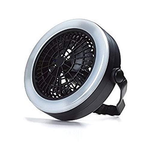 CDKJ LED Camping Laterne tragbares batteriebetriebenes Zelt-Licht mit Deckenventilator Camping Lampen mit Aufhängehaken für Outdoor Camping Wandern Notfall (Schwarz)