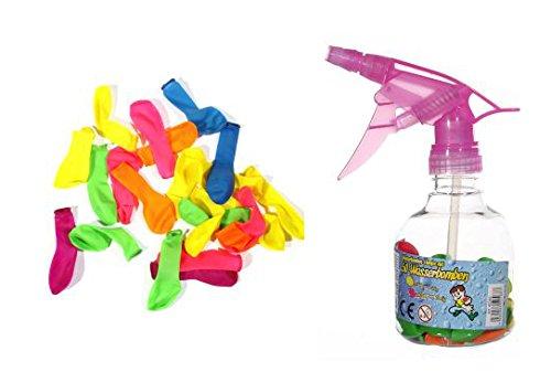 50 Mini Luftballons für Wasserbomben mit Pumpe
