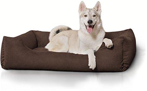 Knuffelwuff Hundebett XXL Hundekissen Hundesofa Hundekorb waschbar Dreamline Braun