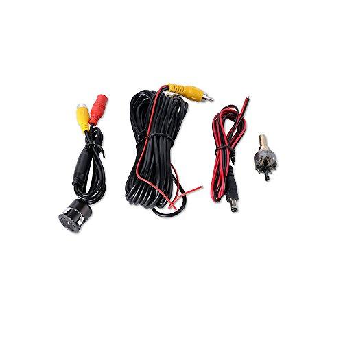 41wjW1bZkKL - Freeauto Cámara de reserva de la vista posterior, microprocesador de CCD de la cámara de reserva del vehículo del estacionamiento universal del coche con vison impermeable de la noche con el cable de video y el cable de transmisión
