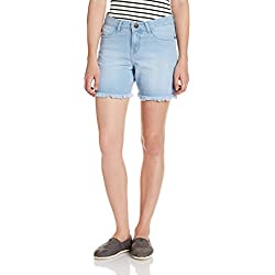Jealous 21 Women's Denim Shorts (JY1991_Blue_28)