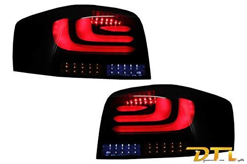 KITT RA09LLBSY - Fanali posteriori CarDNA Hatchback 2003-2008, con indicatore dinamico, colore: Nero/fumo