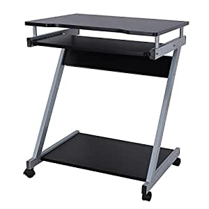 Songmics bureau informatique table informatique meuble de for Petit bureau pour ordinateur et imprimante