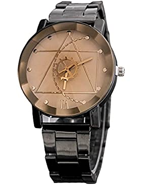 Tyler Hancock Armbanduhr, Männer, Armband aus Edelstahl, Weiß, Quarz, Analog, Design Kompass