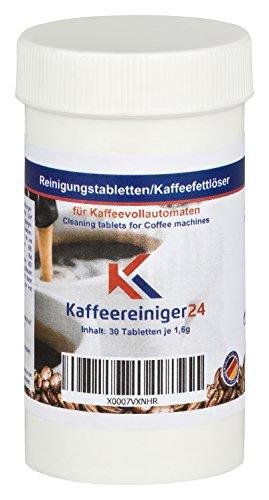 K Kaffeereiniger24 I 30 Reinigungstabletten für Kaffeevollautomaten je 1,6g - Hochwertige Reinigungstabs geeignet für Jura, Siemens, Melitta, Krups uvm. - Made in Germany