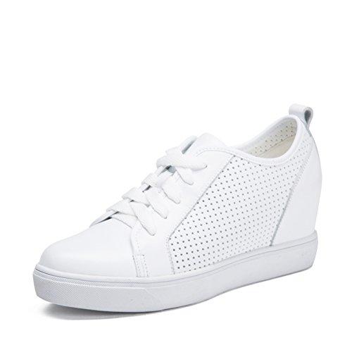 Chaussures de sport féminin/Fond plat hauteur croissante chaussures/Chaussures de sport/Flâneur/ sabot percé pointu A