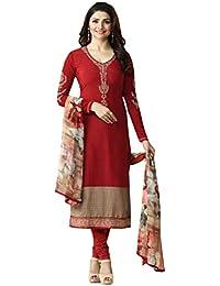 Special Mega Sale Festival Offer C&H Beautiful Designer Red Crepe Salwar Suit