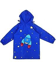 Thicker Children Raincoat / Poncho / Outdoor Cartoon Rain Coat pour garçons et filles (1002 avec School Bag Protector) 3 tailles