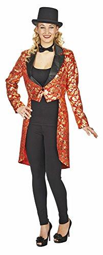 Glamour Frack für Damen Gr. 36 38 - Hochwertige Jacke zum Kostüm (Zirkusdirektor Damen Kostüme)