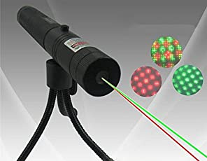 Jakha Plastic High Powered Military Burning Laser Pointer Disco Light 650nm Sd 1000mw 308 Focus Flashlight Lazer Pen, Medium(Green Red and Black)
