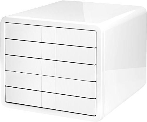 HAN 1551-12, Schubladenbox i-Box, Innovative und Designpreis ausgezeichnete Box in Premium Qualität. Mit 5 geschlossenen Schubladen, weiß (Box Tool 2 Schubladen)