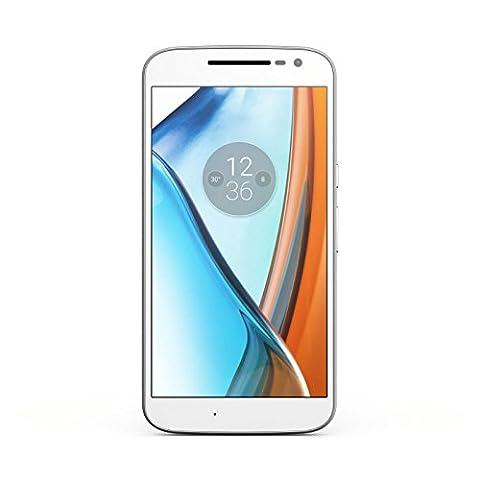 Lenovo SM4374AD1N7/XT1622 Moto G4 LTE Dual SIM Smartphone 13,9 cm (5,5 Zoll) Android 6.0 Marshmallow, Kamera 13MP, 2GB RAM weiß