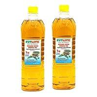 FITLITE Pack of 2 Pure Sesame Wood Chekku Oil 1 LTR