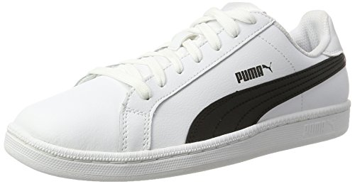 Puma Smash L, Sneaker Unisex – Adulto Bianco (White/Black/White 11)